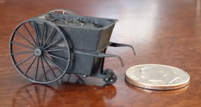 HO Scale (1:87) Coal Cart - Three Pack