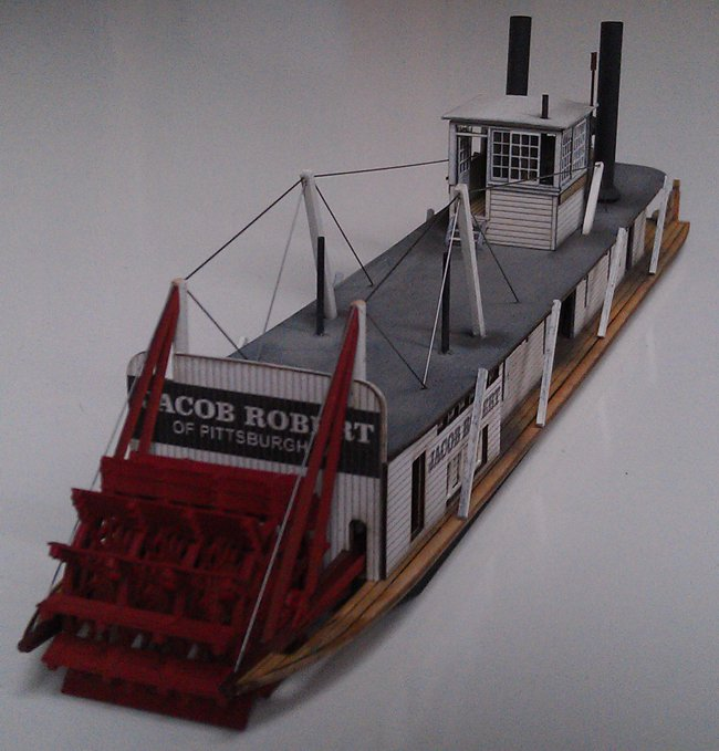 "HO Scale (1:87) Western River Towboat ""Custom"" stern view"