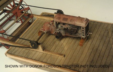 O Scale (1:48) Sternwheel Critter - Waterline, shown with donor Fordson tractor (not included)