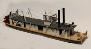 "HO Scale (1:87) Western River Towboat ""Custom"""